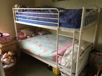 White bunkbeds