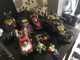 Lego Batman car bundle with boxes