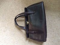 Small vintage Gucci brown leather handbag