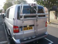 FIAMMA BIKE RACK. Suitable for VWT5 Double rear door. Holds 2 adult bikes. Barely used. £80