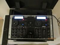 Numark iCDmix cd player, 4 channel mixer with iPod doc, and Numark case