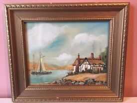 SIGNED AS R TAYLOR I THINK OIL ON BOARD 34X30 CM £25