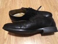 UK8 black Leather Steptronic mens shoes