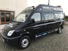 Tyre fitting van