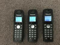 Cordless telephones with answer machine