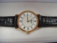 RAYMOND WEIL LADIES 18K GOLD PLATED WATCH + BOX