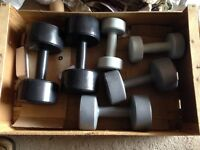 Dumbbell set - 2x 4.5 kg, 2x 3 kg and 2x 1.5 In great condition. Not much used