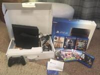 PS4 500Gb boxed with 7 Games.