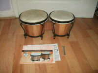 bongo drums, includes cd and rhythm guide with the cd
