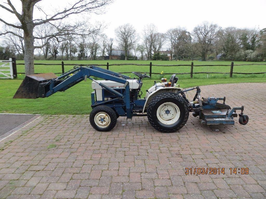 Mitsubishi Compact Tractors : Compact tractor mitsubishi mt d cyl diesel front