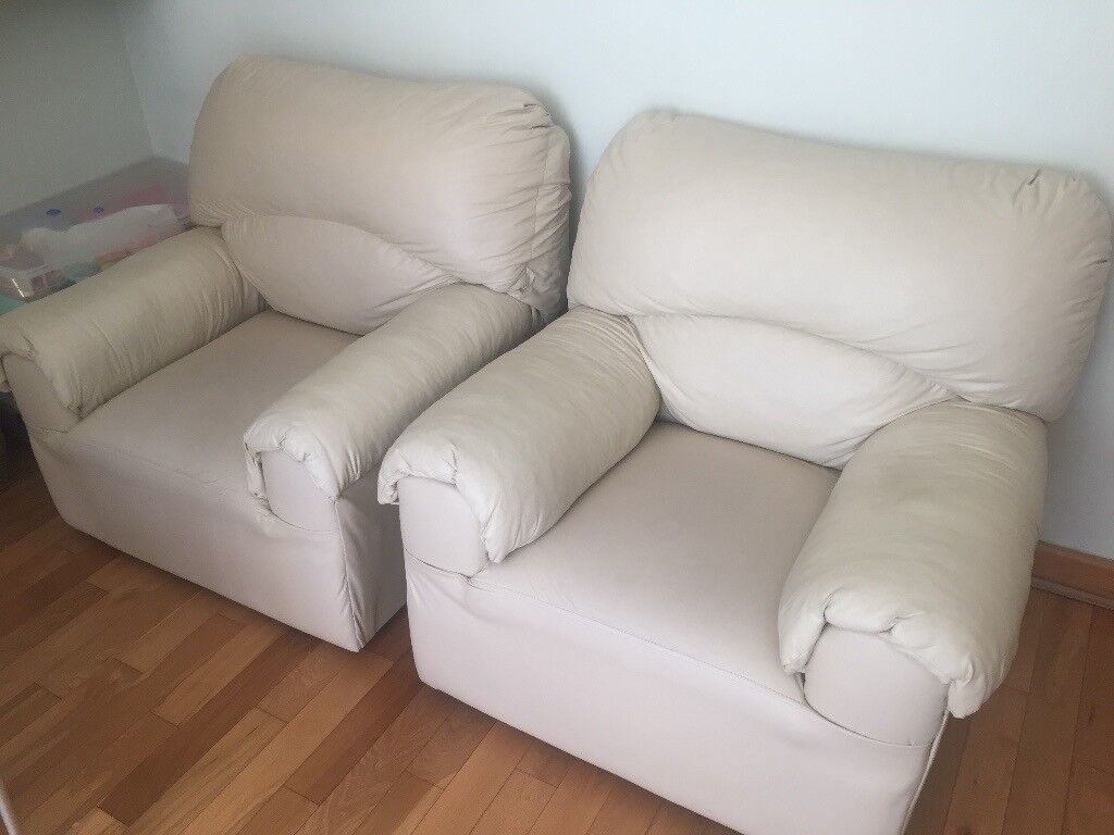 Pair Of Single Faux Leather Sofas For 10 Good Clean Condition In Hall Green West Midlands Gumtree