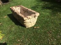 Concrete garden pot