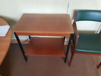 Small Desk Side Chair Table for Office or Home Use #017F
