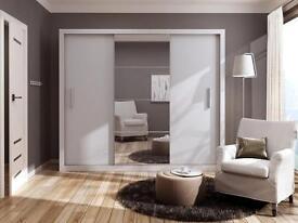 NEW 2 OR 3 DOOR SLIDING WARDROBE WITH FULL MIRROR