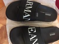 Armani jeans sliders size 6.5/7