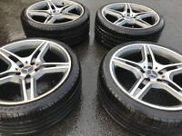 4 x 19 inch AMG Alloys Wheels with New Tyres for Mercedes