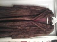real fox fur retro coat. size 12. good condition. just in time for winter