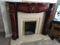 Fire place, surround and half