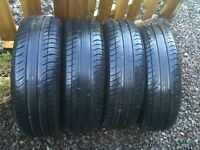4 Michelin Energy Saver tyres – 185/65 R14 86T (fitted our Fiat Panda 4x4)