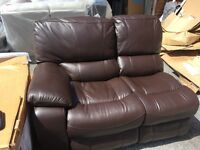 New/Ex Display Leather Recliner 2 Seater Sofa