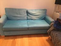 FREE Comfortable blue 3 seater sofa