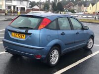 Blue 2002 Ford Focus 1.6 petrol for sale