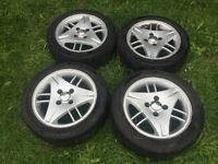 Ford genuine 15 inch alloy wheels with tyres