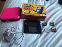 Nintendo 2ds black and blue with accessories