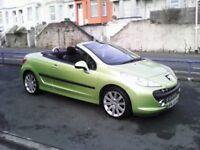 Peugeot 207cc ,1.6hdi ,77k, weston mill car sales.