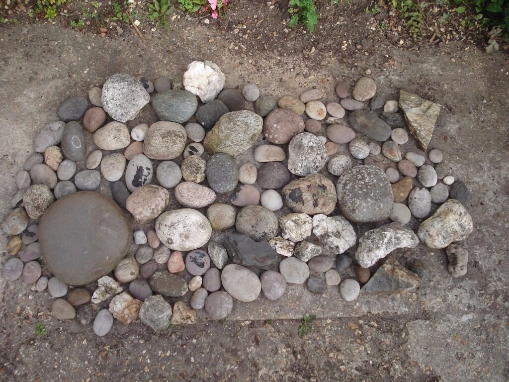 Decorative cobbles stones rocks for pond stream garden for Garden pond stones