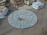 patio slabs rotunda circle