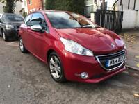 2014 PEUGEOT 208 ALLURE 1.4 HDI. £0 ROAD TAX. CHEAPEST CAR ONLINE. 9000 MILES. 1 OWNER. LEATHERS.