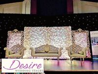 Nottingham Asian Wedding Stages & Decorations Floral Centerpieces Hire Party Hire