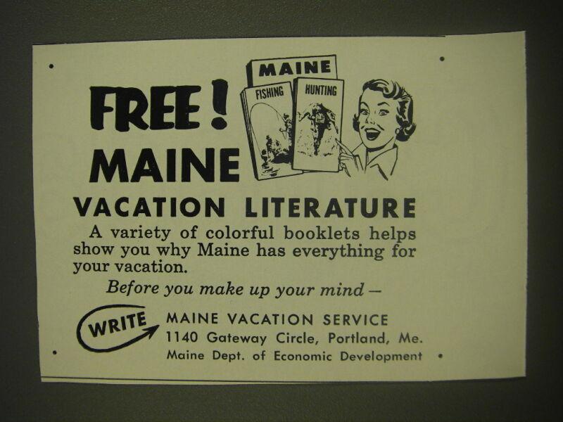 1958 Maine Tourism Advertisement
