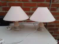 2 pink bedside table lamps - DELIVERY AVAILABLE