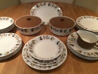 Vintage China - Alfred Clough Dinner Set - West Country