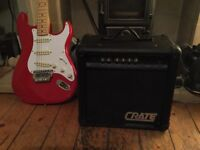 Crate GX15 guitar amplifier ( 15 watts ) with overdrive.