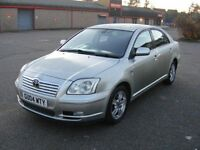 2004 TOYOTA AVENSIS 2.0 DIESEL, ALLOYS, SERVICE HISTORY,LOW MPG