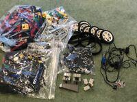 Assorted Lego with gears, wheels, motors etc