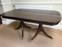 Large Dining Room Table 6 Matching Chairs
