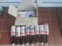 job lot x8 DustPic lint rollers +12 rolls ideal for picking up hair dog fur dust etc