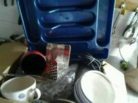 Box of kitchen dinning stuff