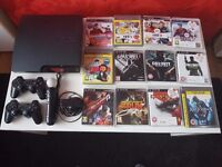 PS3 Slim and games for sale