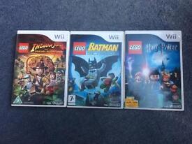 Lego Indiana Jones, Batman and Harry Potter