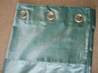 Next Eyelet Curtains - Teal in Colour.