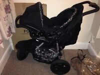 Baby pushchair with car seat