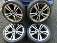 BMW 19 INCH GENUINE ALLOY WHEELS - SUIT 3 OR 4 SERIES