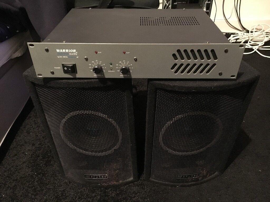 Warrior Definitive Audio DA300 Amp and Skytec PA