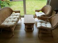 Rattan / willow style conservatory furniture suite