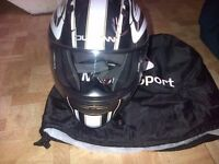 Motorcycle helmet, size small, black, duchinni, as new